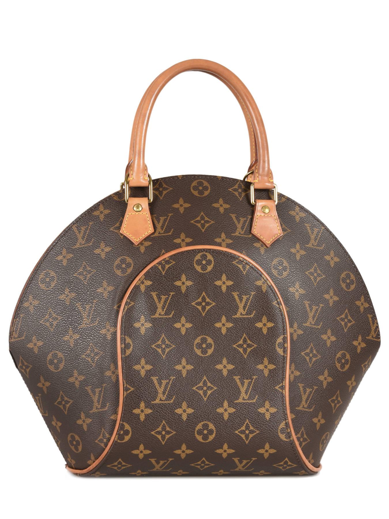 d24b6013bcc ... Preloved Louis Vuitton Handtas Ellipse Monogram Brand connection Bruin louis  vuitton 60 ander zicht 3 ...