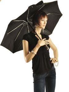 Paraplu Isotoner Zwart auto pliants 9406-vue-porte