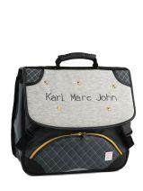 Boekentas 2 Compartimenten Karl marc john Grijs star 671936