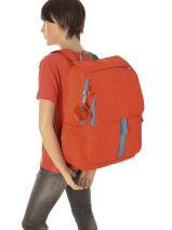Rugzak 2 Compartimenten Kipling Oranje back to school Haruko - 15377-vue-porte