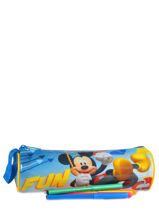 Pennenzak 1 Compartiment Mickey Blauw basic AST2242-vue-porte