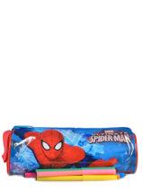 Pennenzak 1 Compartiment Spiderman Rood basic AST2246-vue-porte