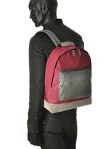 Rugzak 1 Compartiment Mi pac Rood bagpack 740002-vue-porte