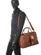 Documententas 1 Compartiment A4 Formaat Cowboysbag Bruin vegetal 1030-vue-porte
