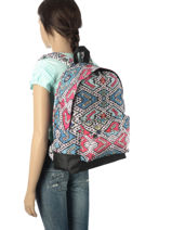 Rugzak 1 Compartiment Roxy Veelkleurig backpack RJBP3406-vue-porte