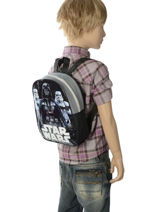 Rugzak Mini Star wars Zwart basic AST4093-vue-porte