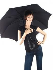 Paraplu Esprit Zwart gents long ac 50150-vue-porte