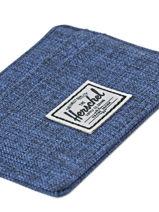 Kaarthouder Herschel Blauw classics 10360-vue-porte