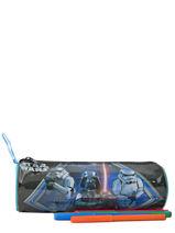 Pennenzak 1 Compartiment Star wars Zwart dark vador AST3598-vue-porte