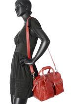 Handtas Sturdy Romance Leder Cowboysbag Rood sturdy romance 1346-vue-porte