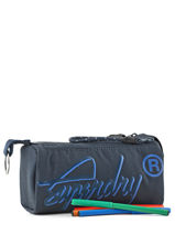 Pennenzak 1 Compartiment Superdry Blauw accessories men M98009DP-vue-porte