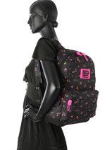 Rugzak 1 Compartiment Superdry Zwart backpack woomen G91001NP-vue-porte