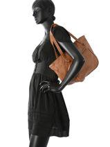 Shoppingtas Classic Leder Basilic pepper Bruin classic BCLA01-vue-porte