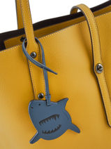 Tasaccessoire Sharky Coach Blauw bag charms 21518-vue-porte