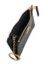 Portemonnee Mini Skinny Leder Coach Blauw wallet 57841-vue-porte