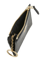 Portemonnee Mini Skinny Leder Coach Zwart wallet 57841-vue-porte