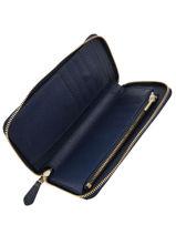 Portefeuille Leder Coach Blauw wallet 58584-vue-porte