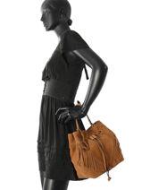 Bucket Bag Cheyenne Etrier Bruin cheyenne ECHE02-vue-porte