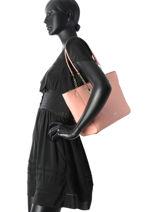 Shoppingtas Turnlock Chain Tote Leder Coach Roze tote 57107-vue-porte
