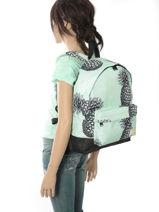 Rugzak 1 Compartiment Roxy Roze backpack RJBP3637-vue-porte