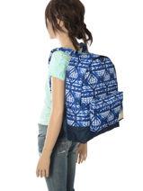 Rugzak 1 Compartiment Roxy Blauw backpack RJBP3637-vue-porte