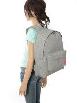 Rugzak 1 Compartiment Roxy Grijs backpack RJBP3639-vue-porte