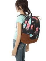 Rugzak 1 Compartiment Roxy Veelkleurig backpack RJBP3680-vue-porte