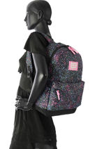 Rugzak 1 Compartiment Superdry Zwart backpack woomen G91008NQ-vue-porte