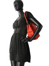 Bucket Bag Vesuvio Leder Mac douglas Rood vesuvio MEGVES-S-vue-porte
