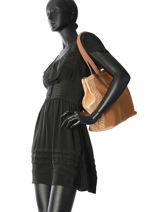 Handtas Vintage Leder Mila louise Bruin vintage 3294CVS-vue-porte