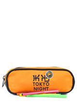 Pennenzak 2 Compartimenten Ikks Geel backpacker in tokyo 18-12836-vue-porte