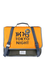 Boekentas 2 Compartimenten Ikks Geel backpacker in tokyo 18-38836