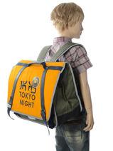 Boekentas 2 Compartimenten Ikks Geel backpacker in tokyo 18-41836-vue-porte