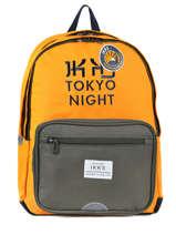 Rugzak 2 Compartimenten Ikks Geel backpacker in tokyo 18-63836