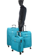 Set Reiskoffers Snow Travel Blauw snow 12208LOT-vue-porte