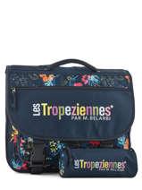 Boekentas 2 Compartimenten Met Gratis Pennenzak Les tropeziennes Blauw wissant WIS05