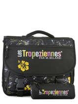 Boekentas 2 Compartimenten Met Gratis Pennenzak Les tropeziennes Zwart wissant WIS04