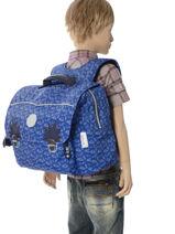 Boekentas 1 Compartiment Kipling Blauw back to school capsule 82-vue-porte