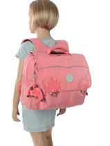 Boekentas 1 Compartiment Kipling Roze back to school capsule 82-vue-porte