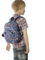 Mini Rugzak Kipling Blauw back to school 253-vue-porte