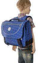 Boekentas 2 Compartimenten Kipling Blauw back to school capsule 778-vue-porte