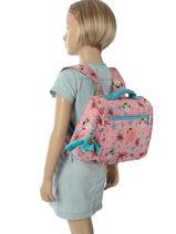 Boekentas 1 Compartiment Kipling Roze back to school 13571-vue-porte