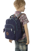 Rugzak 1 Compartiment Kipling Blauw back to school 18674-vue-porte