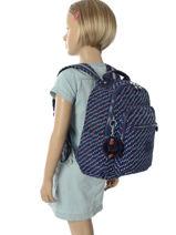 Rugzak 1 Compartiment Kipling Blauw back to school 18674-vue-porte