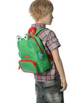 Rugzak Mini Animal Groen kids KIDEI02-vue-porte