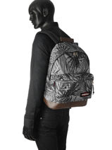 Rugzak 1 Compartiment Eastpak Grijs authentic K811-vue-porte