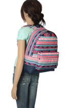 Rugzak 1 Compartiment Roxy Zwart back to school RJBP3728-vue-porte
