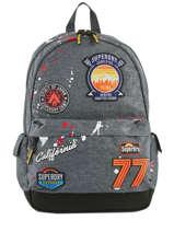 Rugzak 1 Compartiment Superdry Grijs backpack men M91013NQ