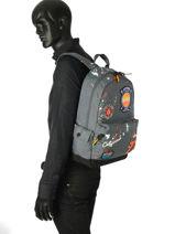 Rugzak 1 Compartiment Superdry Grijs backpack men M91013NQ-vue-porte