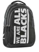 Rugzak 2 Compartimenten All blacks Zwart we are 173A204I